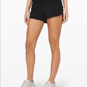 """Black Lululemon speed shorts 2.5"""""""